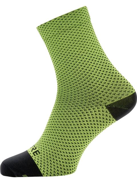 GORE WEAR C3 Dot Mid Socks Unisex neon yellow/black